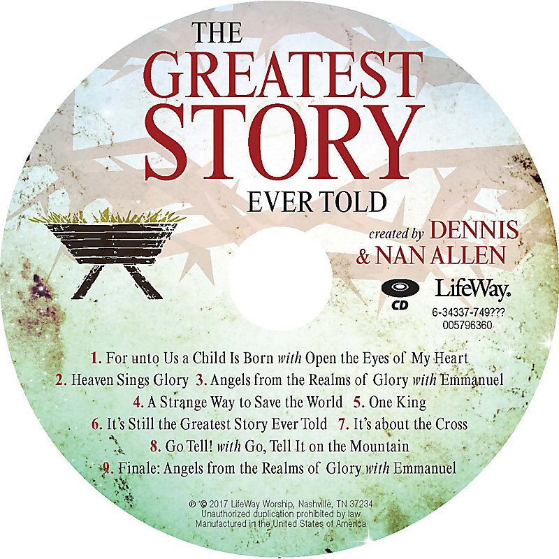 The Greatest Story Ever Told - Orchestration CD-ROM