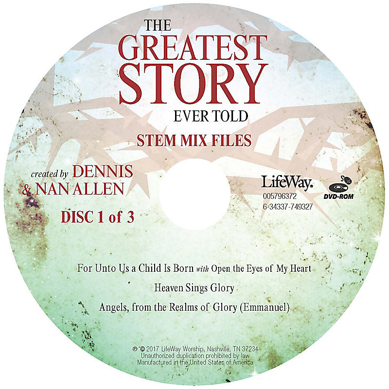 The Greatest Story Ever Told - Stem Tracks DVD-ROM