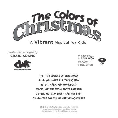 the colors of christmas accompaniment cd