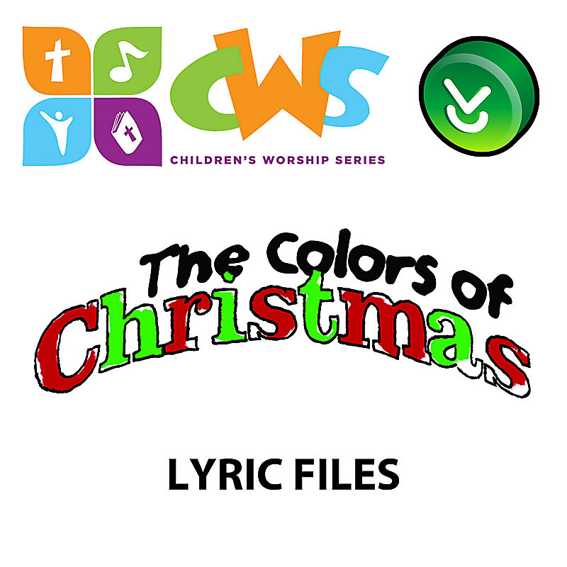 the colors of christmas downloadable lyric files full collection