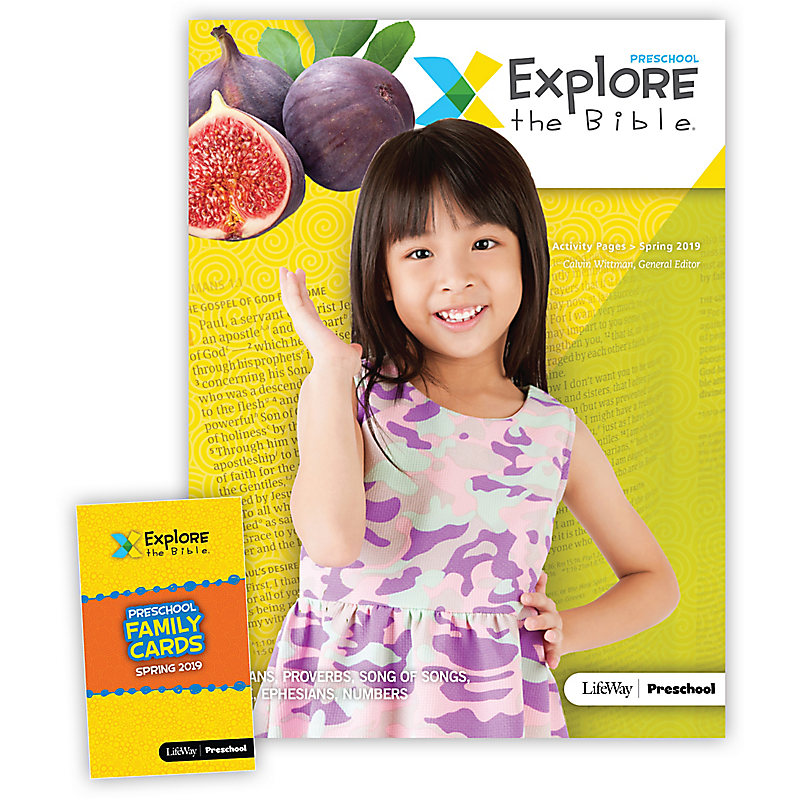 Explore the Bible: Preschool Activity Pack - Spring 2019