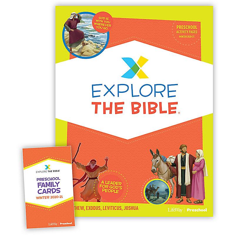 Explore the Bible: Preschool Activity Pack Winter 2021