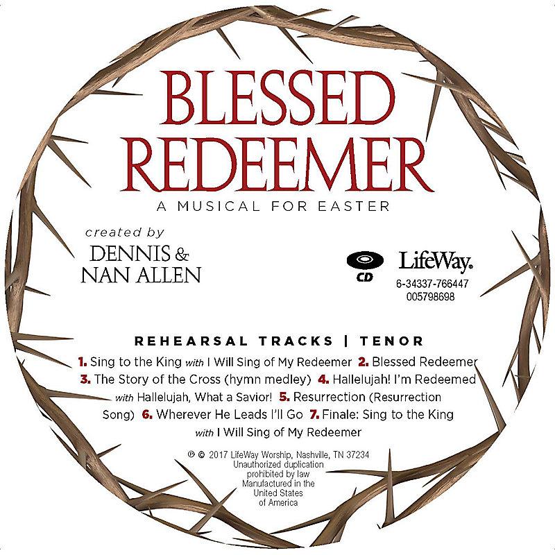 Blessed Redeemer - Tenor Rehearsal CD