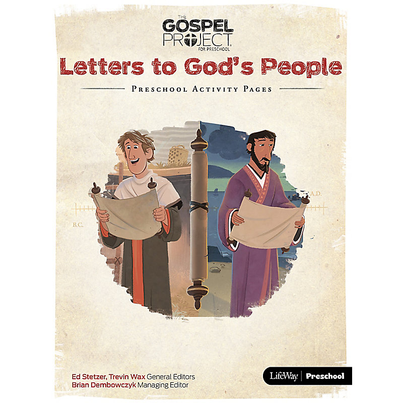 The Gospel Project for Preschool: Preschool Activity Pages - Volume 11: Letters to God's People