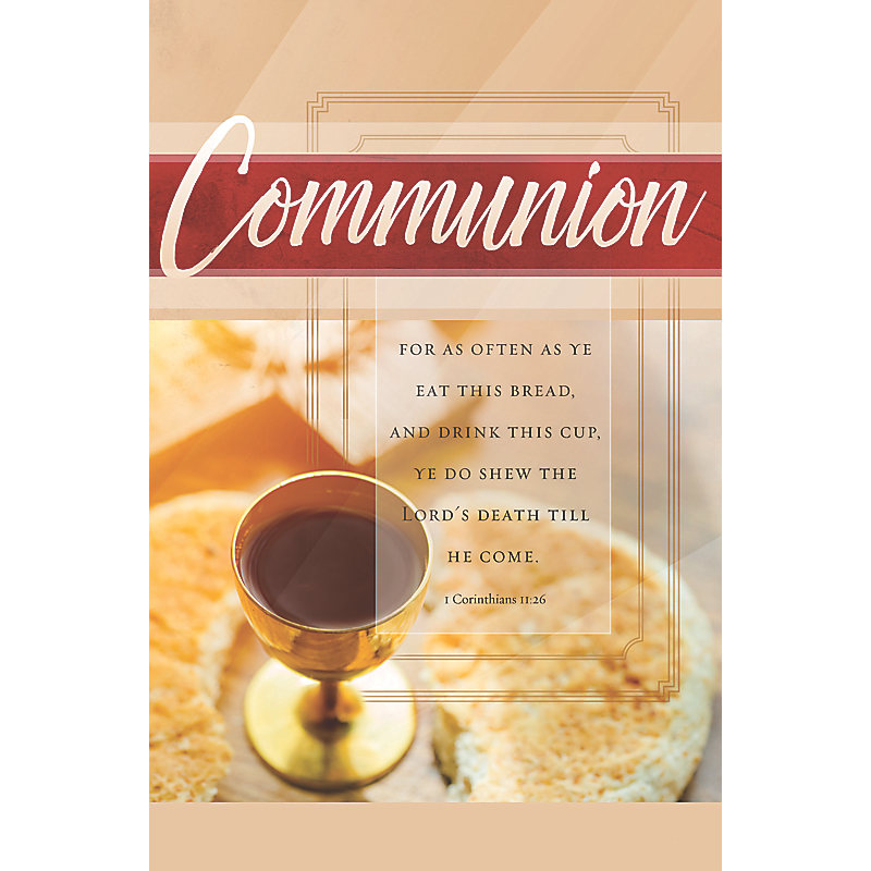 For As Often - Bulletin (Pkg 100) Communion
