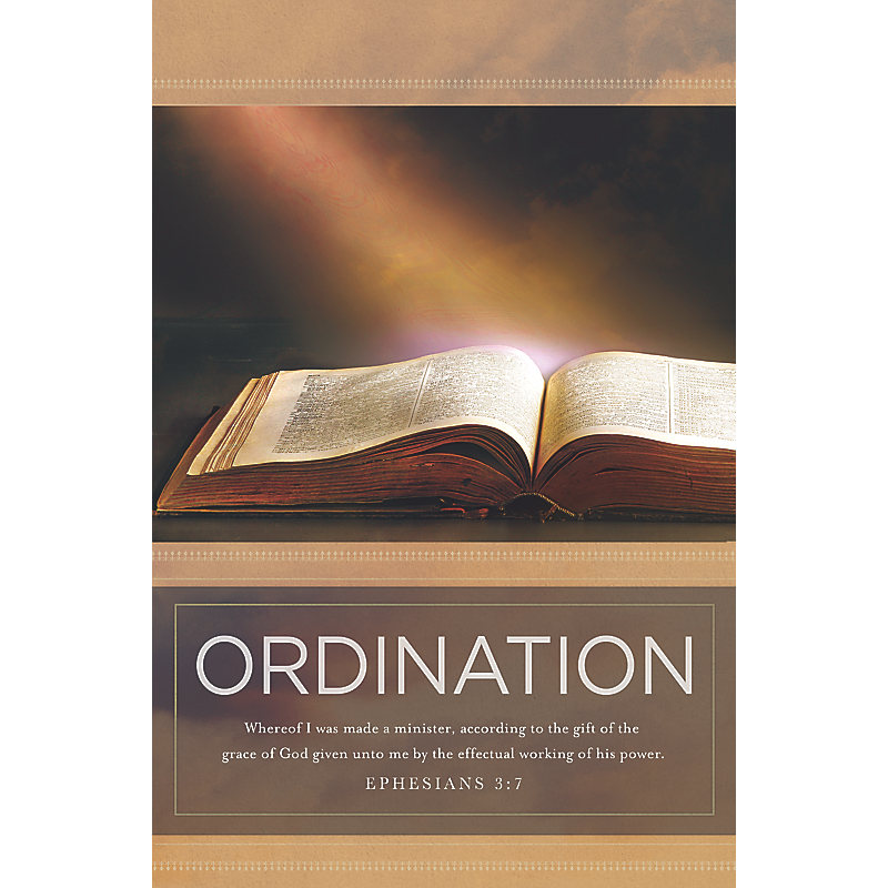 Ordination Bulletin Pkg 100 Ordination Lifeway