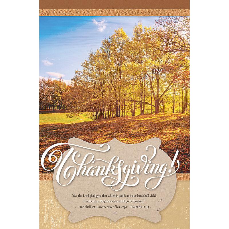 Yea, The Lord - Bulletin (Pkg 100) Thanksgiving