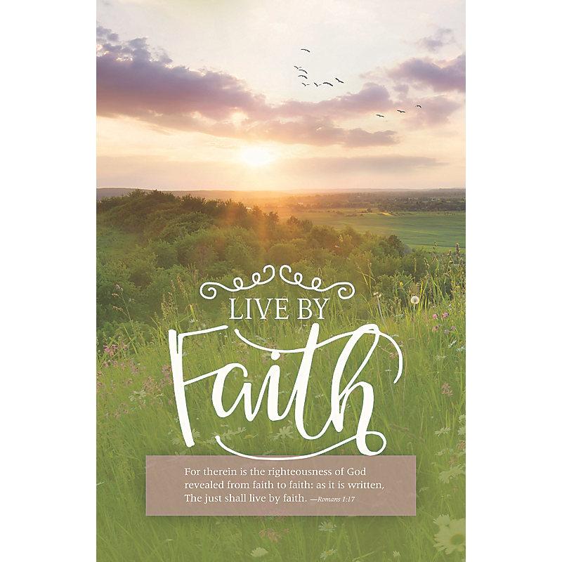 Live by Faith - Bulletin (Pkg 100) General Worship
