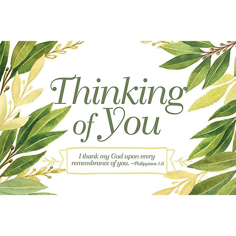Thinking of You - Postcard (Pkg 25) General Worship