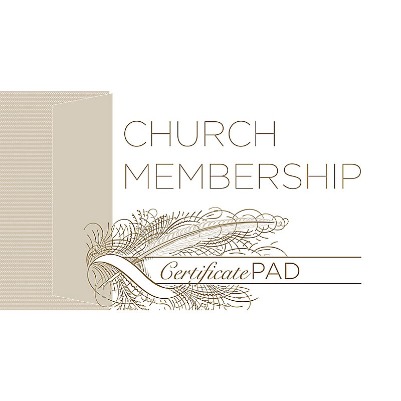 New Church Member Certificate (Pad of /25)