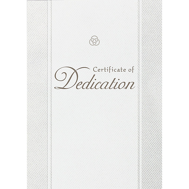 Dedication - Parchment Paper Folded Certificate (Pkg 6)