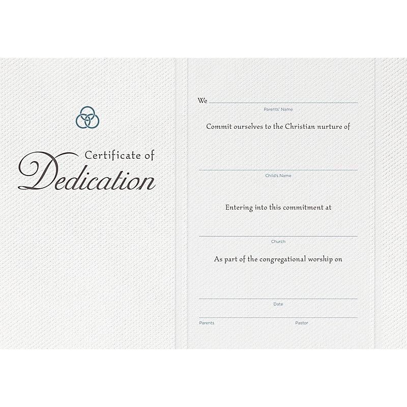 Dedication Flat Certificate (Pkg 6)