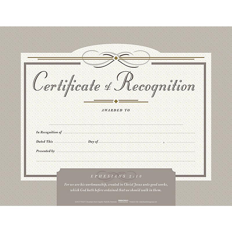 Recognition Flat Certificate (Pkg 6)