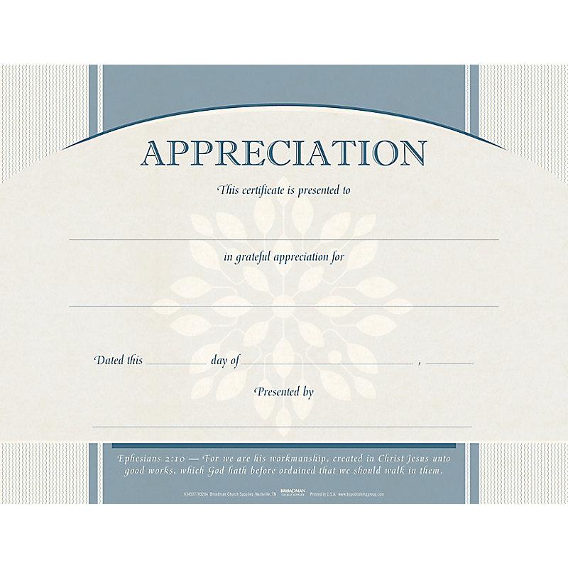 Appreciation Flat Certificate (Pkg 6)