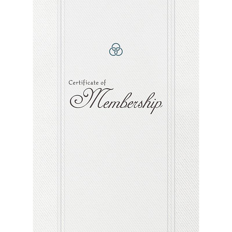 Church Membership Folded Certificate (Pkg 6)