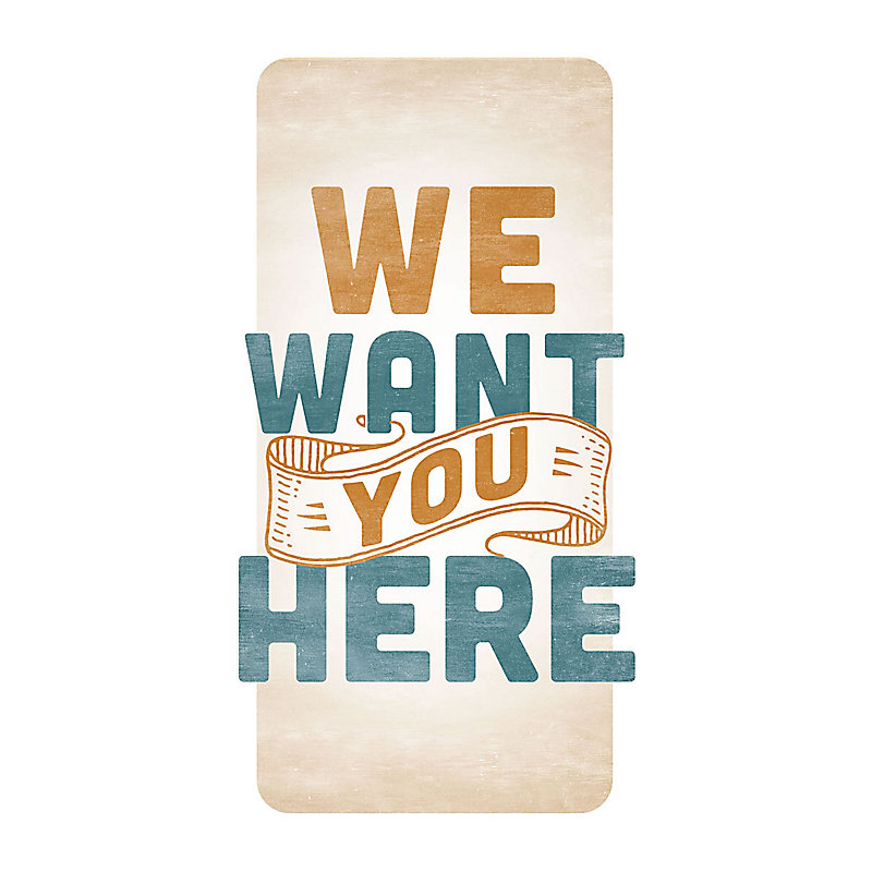 We Want You Here - Guest Card (PKG 50)