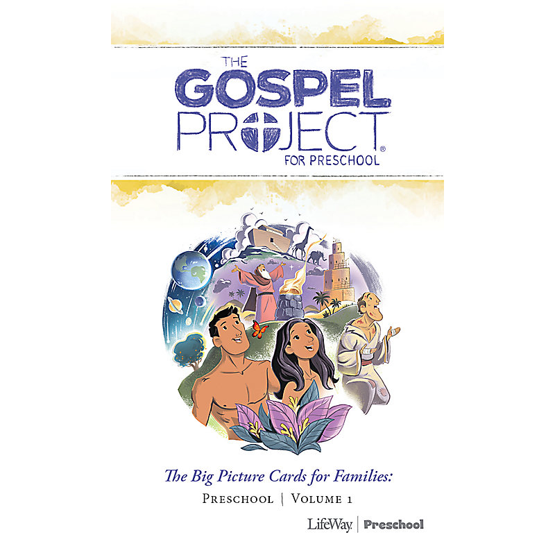 The Gospel Project for Preschool: Preschool Big Picture Cards for Families - Volume 1 In the Beginning