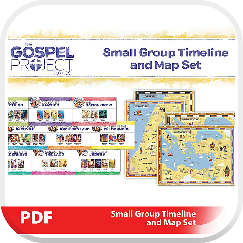 The Gospel Project for Kids: Small Group Timeline and Map Set - Digital