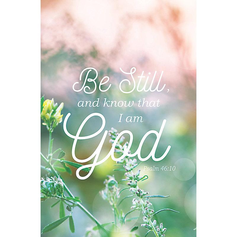 Know That I Am God - Bulletin (Pkg 100) General Worship