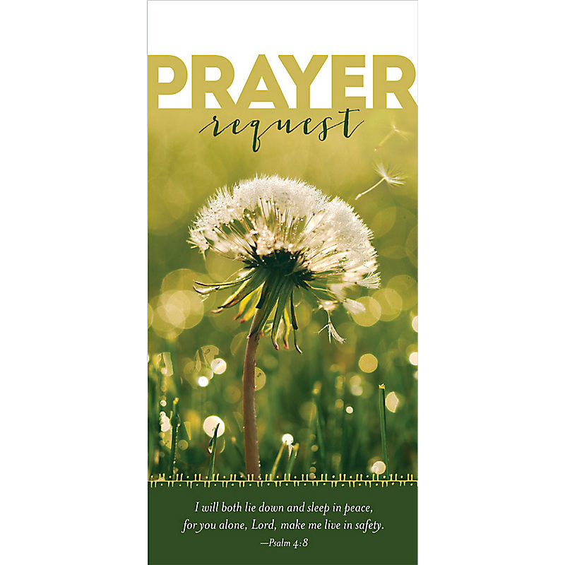 Safety  Prayer Request - Guest Card (PKG 50)
