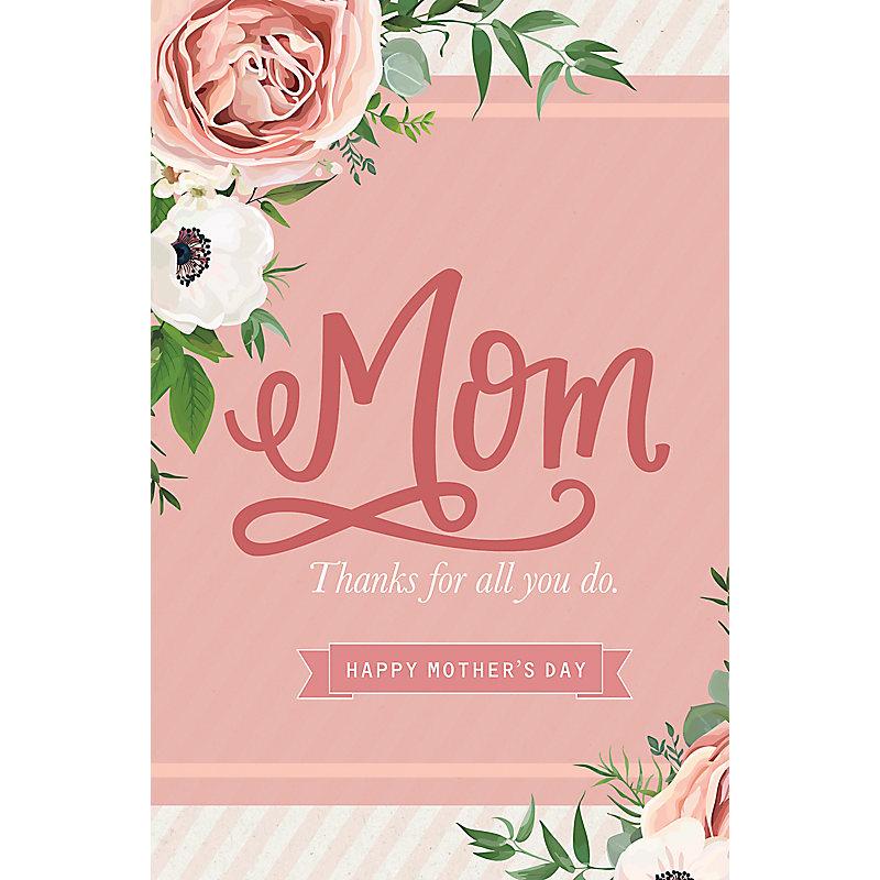 Thanks Mom For All You Do - Bulletin (Pkg 100) Mother's Day