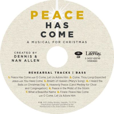 Worshp music church music lifeway peace has come bass rehearsal cd fandeluxe Image collections