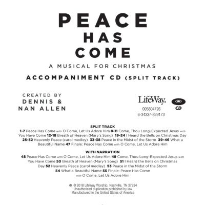 peace has come accompaniment cd - Casting Crowns I Heard The Bells On Christmas Day