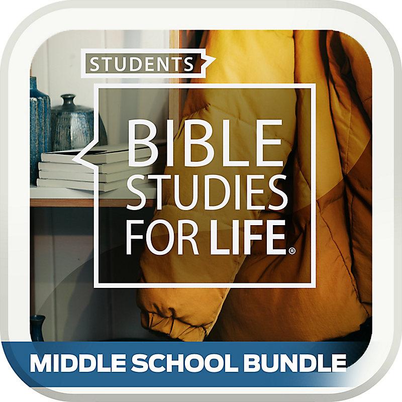 Bible Studies for Life: Student Middle School Option Bundle Winter 2019