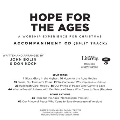 hope for the ages accompaniment cd - Hope For Christmas