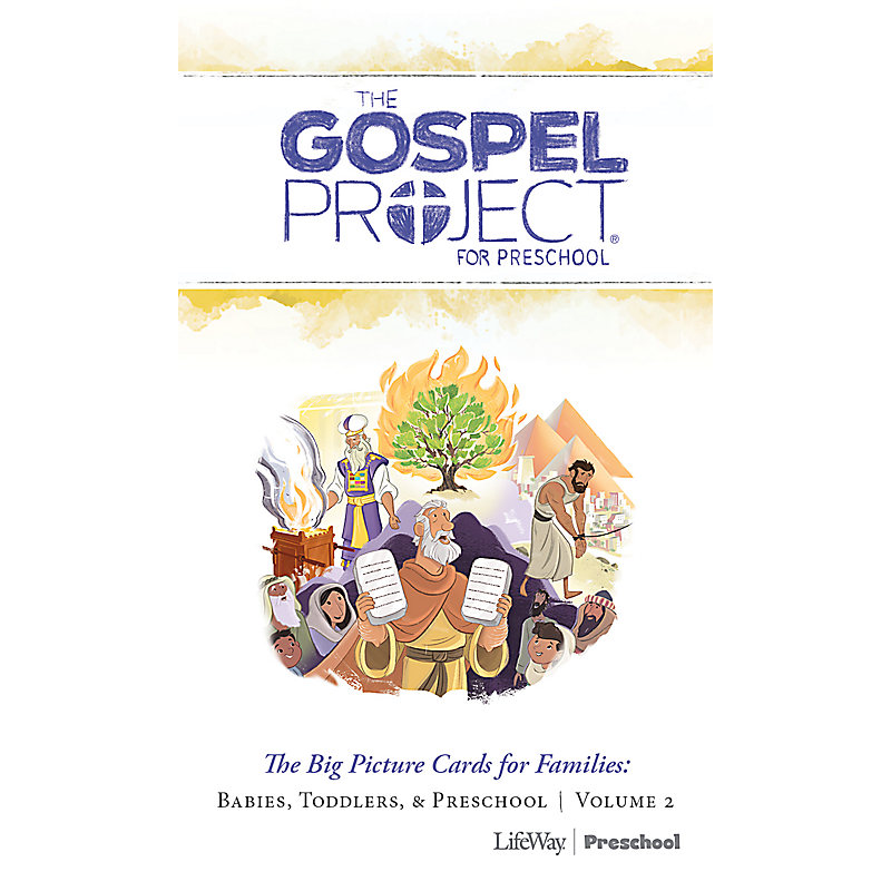 The Gospel Project for Preschool: Preschool Big Picture Cards for Families - Volume 2: Out of Egypt