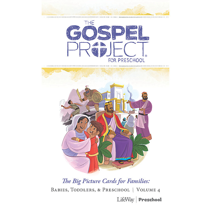The Gospel Project for Preschool: Preschool Big Picture Cards for Families - Volume 4: A Kingdom Provided