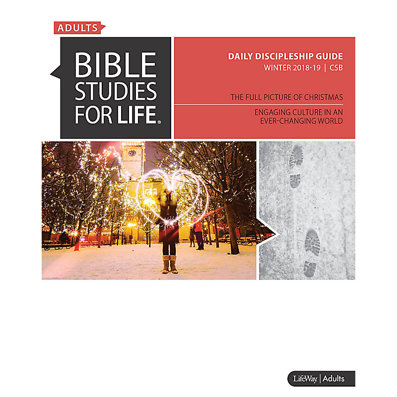Bible Studies for Life: Adult Daily Discipleship Guide - CSB - Winter 2019