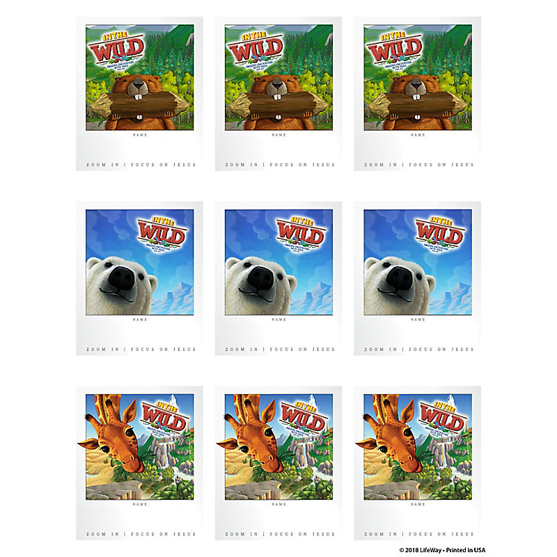 VBS 2019 Sticker Name Tags  10 Sheets