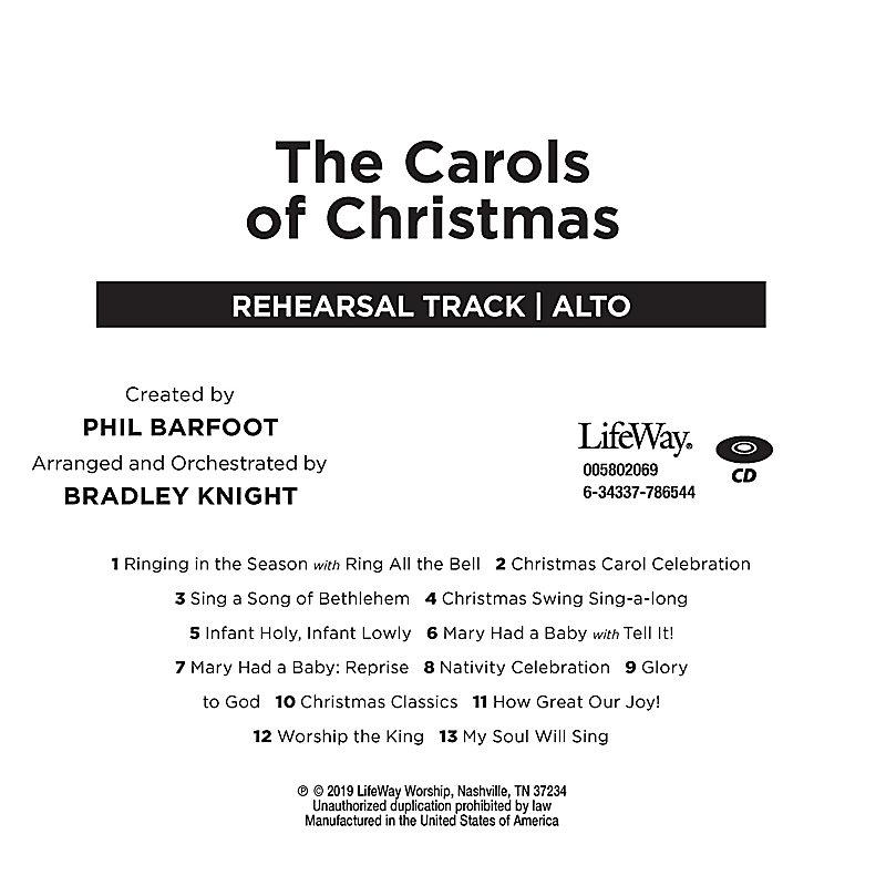 The Carols of Christmas - Alto Rehearsal CD