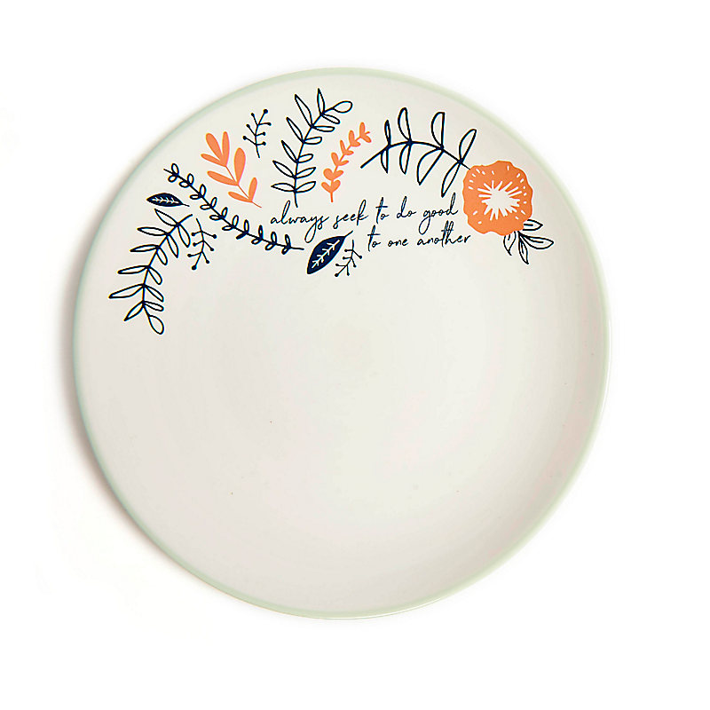 Do Good - Floral Plate - Blue