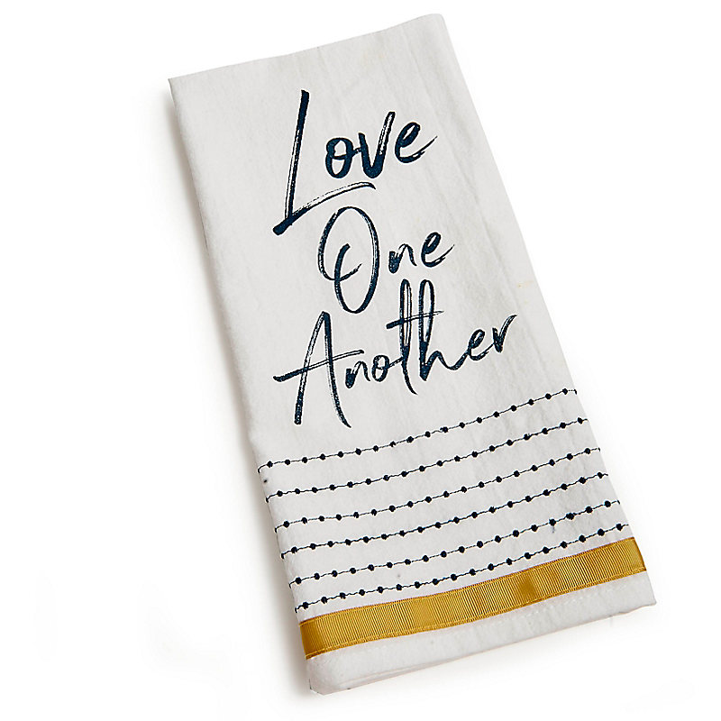 Love One Another - Tea Towel - Dots