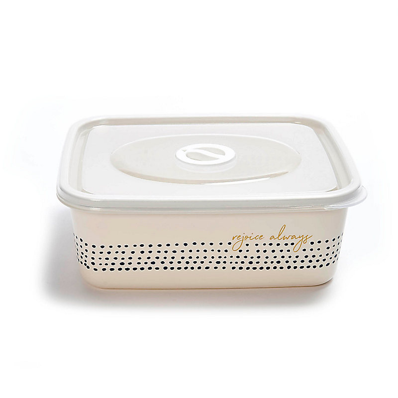 Rejoice Always - Storage Container with Lid, Dots