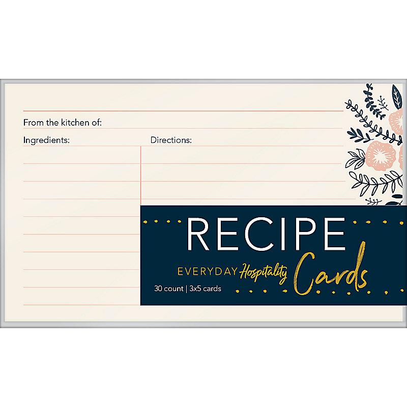 Recipe Cards, Everyday Hospitality
