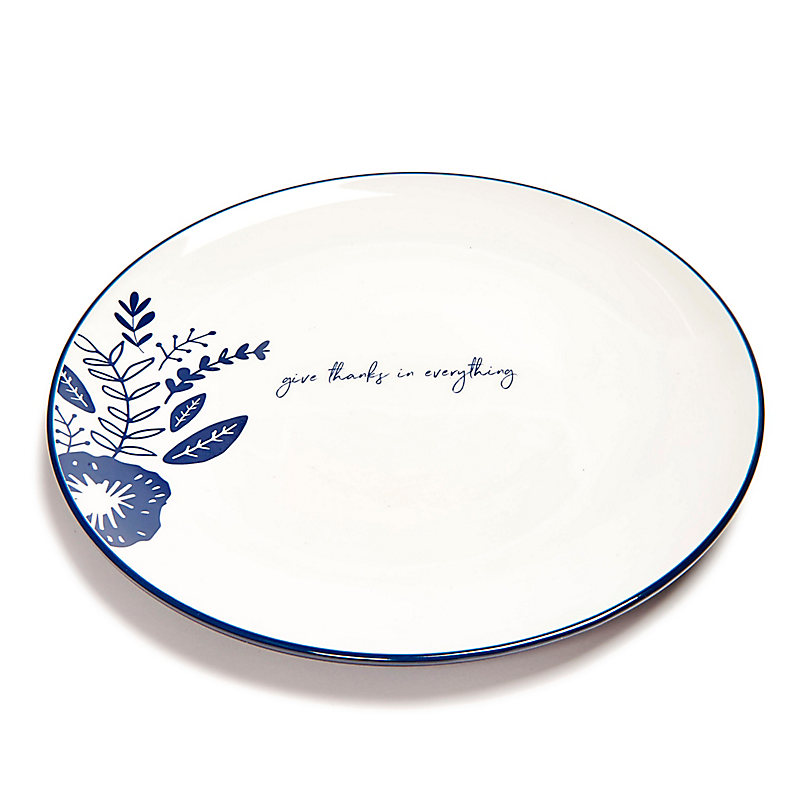 Give Thanks Plate, Floral