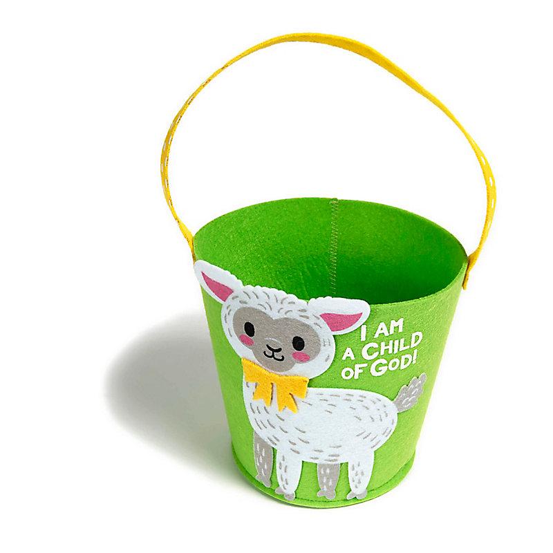 I Am a Child of God Lamb Easter Basket