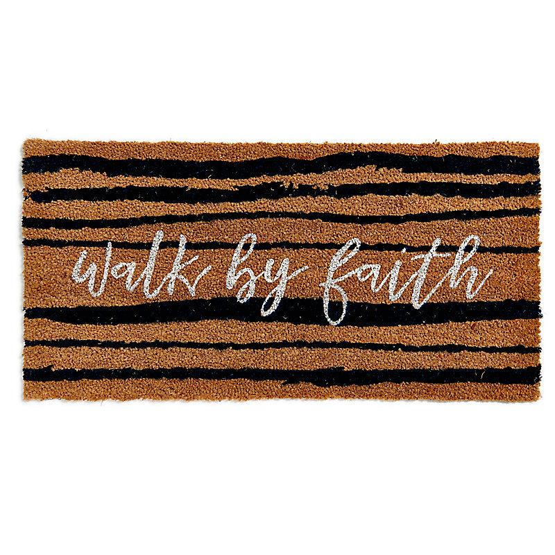 Walk By Faith Coir Door Mat