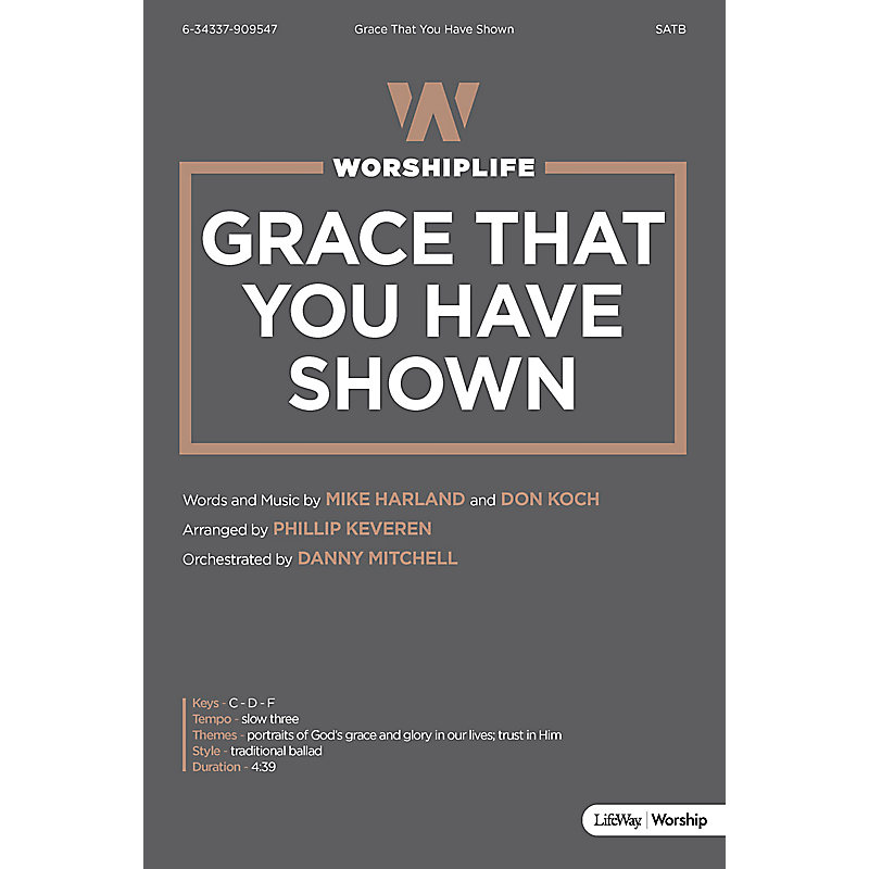 Grace That You Have Shown - Downloadable Lyric File