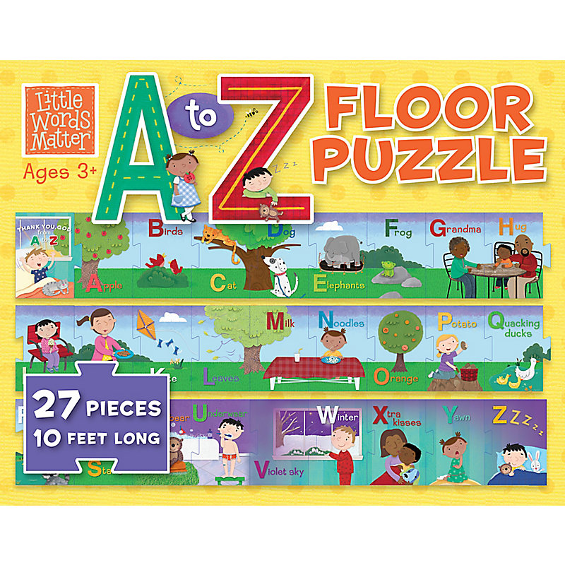 Little Words Matter A to Z Floor Puzzle