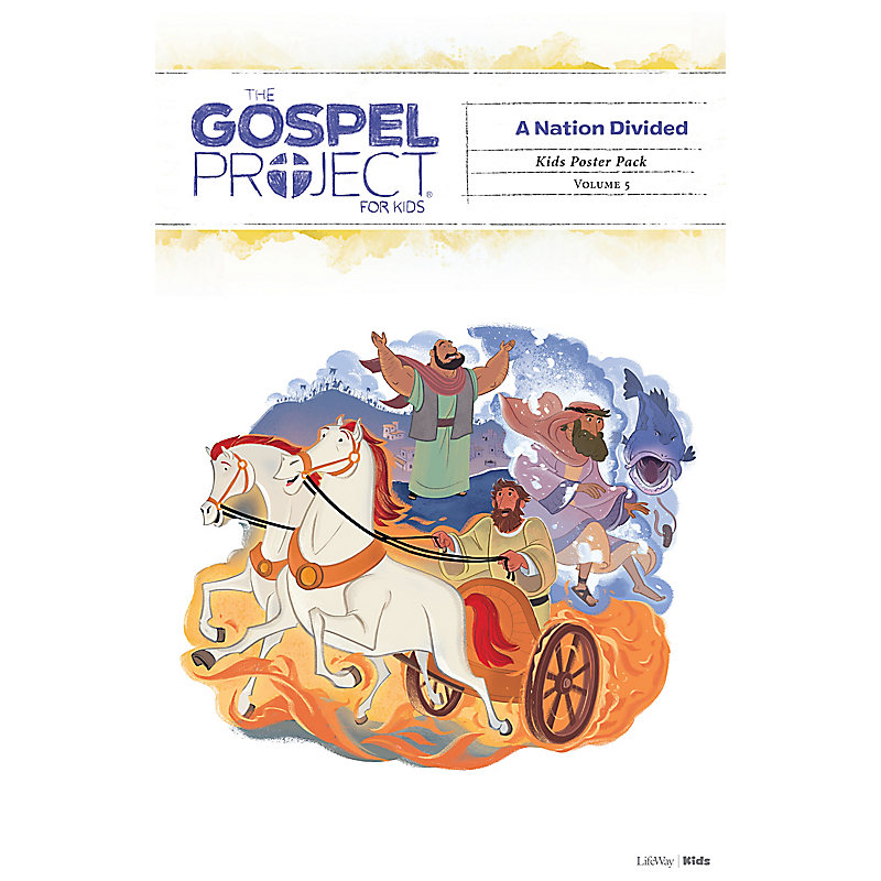 The Gospel Project for Kids: Kids Poster Pack - Volume 5: A Nation Divided