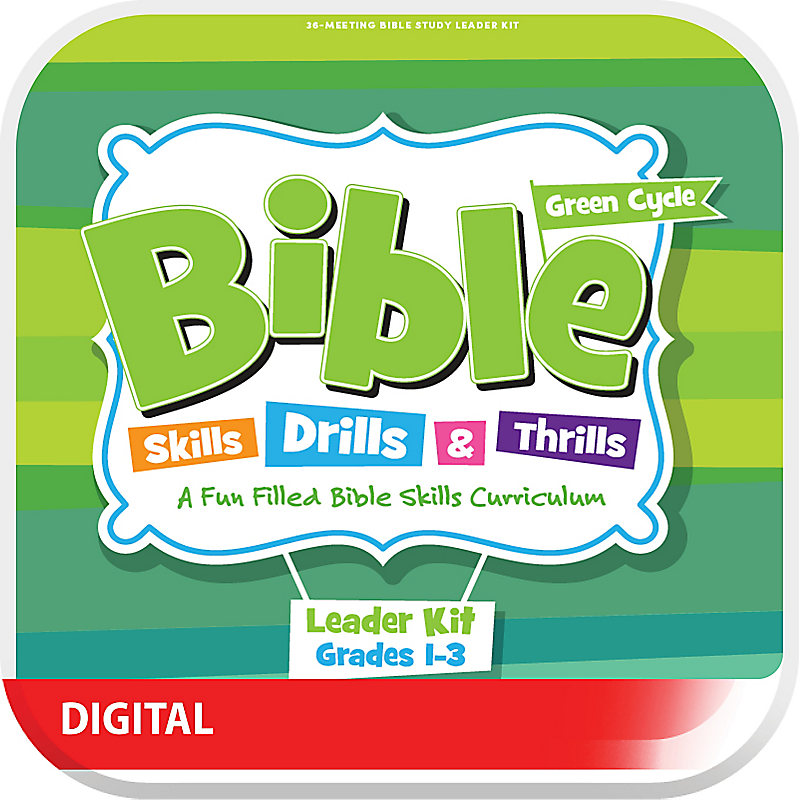 Bible Skills, Drills, & Thrills: Green Cycle (Grades 1-3) - Digital Leader Kit