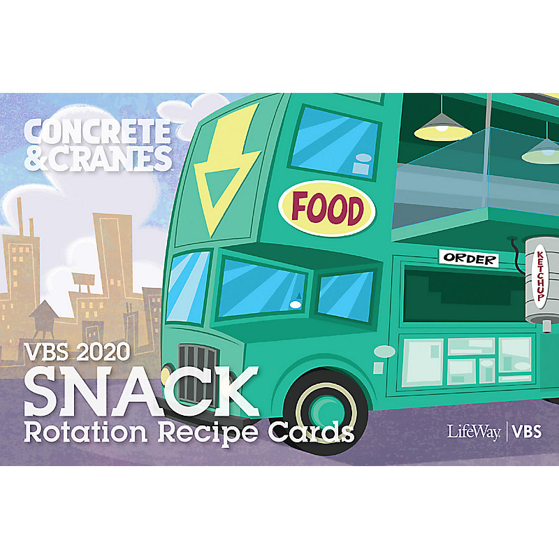 VBS 2020 Snack Rotation Recipe Cards