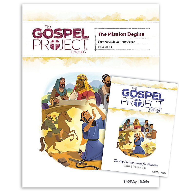 The Gospel Project for Kids: Younger Kids Activity Pack - Volume 10: The Mission Begins
