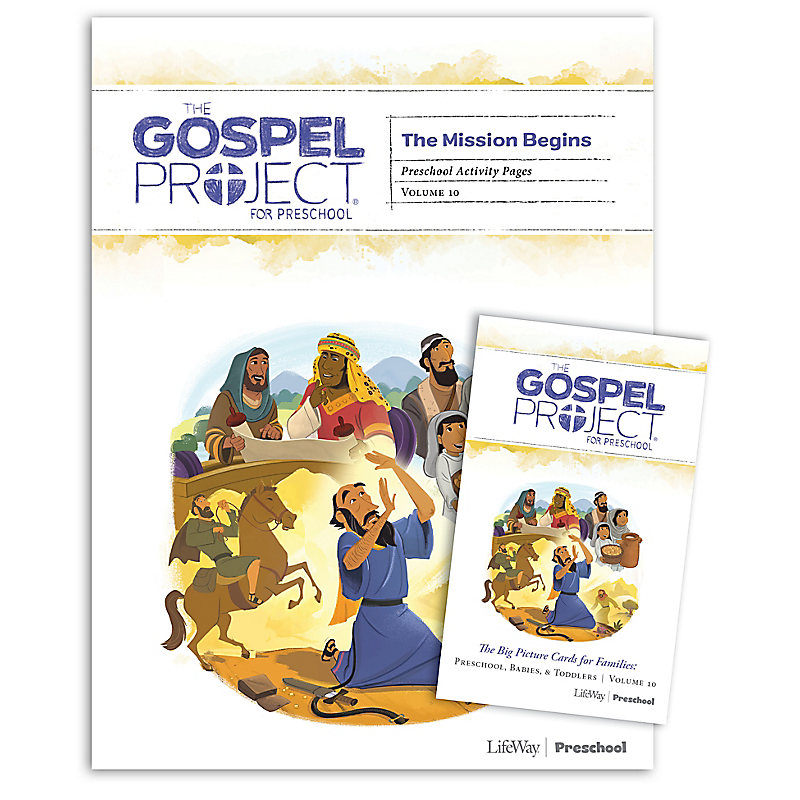 The Gospel Project for Preschool: Preschool Activity Pack - Volume 10: The Mission Begins