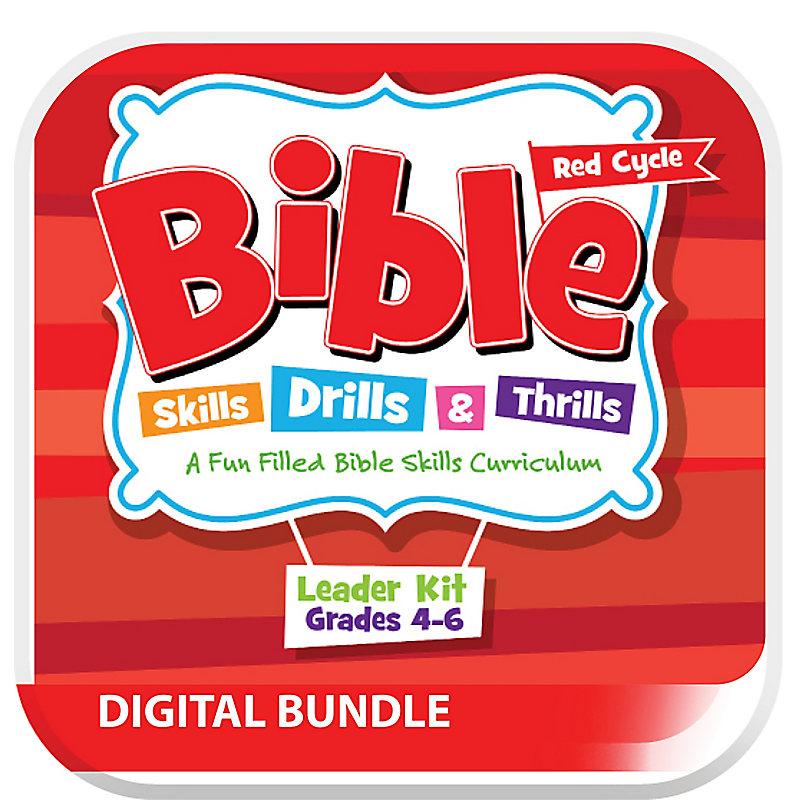 Bible Skills Drills and Thrills Red Cycle Grades 4-6 DIGITAL Leader KIT