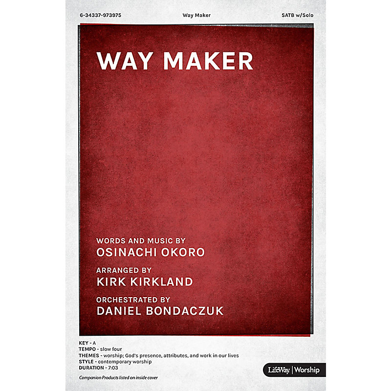 Way Maker - Downloadable Orchestration